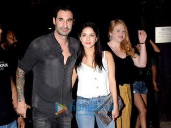 Sunny Leone and Zayed Khan spotted at Tara B Hotel in Juhu