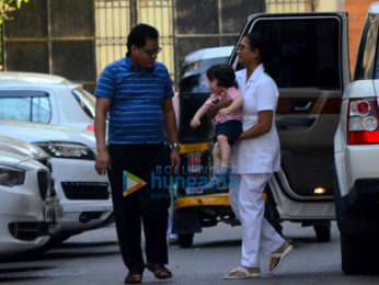Taimur Ali Khan spotted at Amrita Arora's house