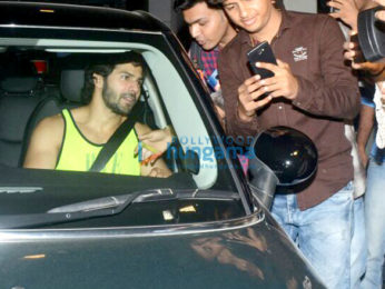 Varun Dhawan spotted at gym in Bandra