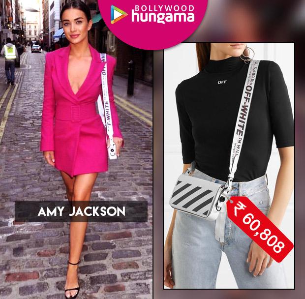 Weekly Celebrity Splurges - Amy Jackson in Off White handbag