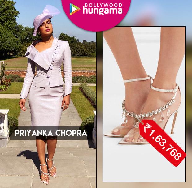 Weekly Celebrity Splurges - Priyanka Chopra in Off White x Jimmy Choo