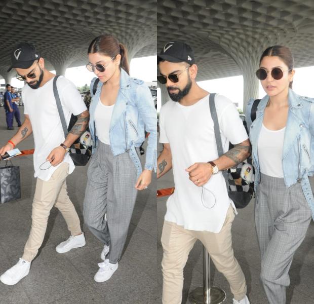 Airport Style - Anushka Sharma and Virat Kohli (1)