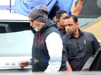 Amitabh Bachchan snapped post the shoot of Brahmastra