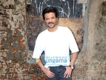 Anil Kapoor and Bobby Deol snapped during media interview for Race 3 at Mehboob Studio