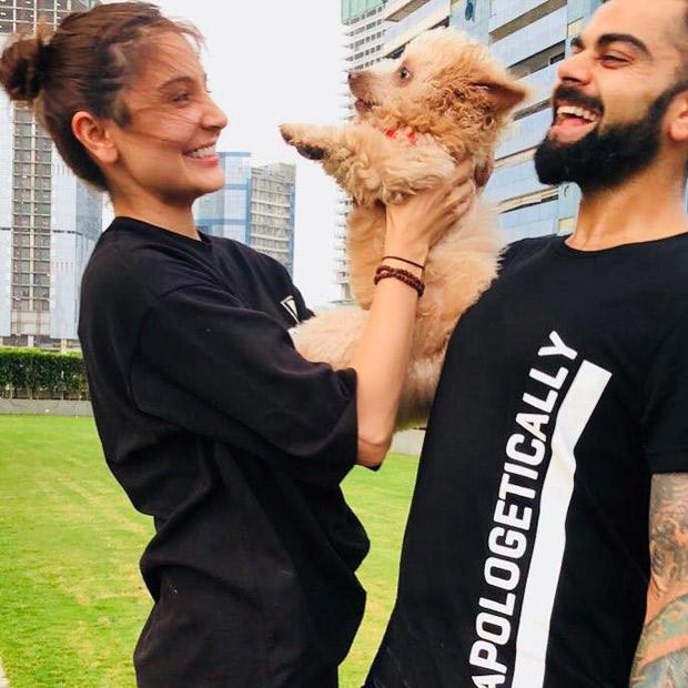 Anushka Sharma and Virat Kohli's OH-SO-CUTE moment with a canine will definitely make your heart melt!