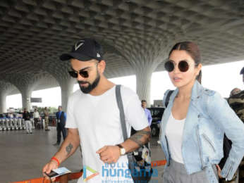 Daisy Shah, Anushka Sharma, Virat Kohli and Saqib Saleem snapped at the airport