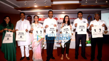 Dia Mirza and Rouble Nagi attend Milind Deora's anti-plastic event