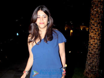 Ekta Kapoor snapped celebrating her birthday with family at Yauatcha in BKC