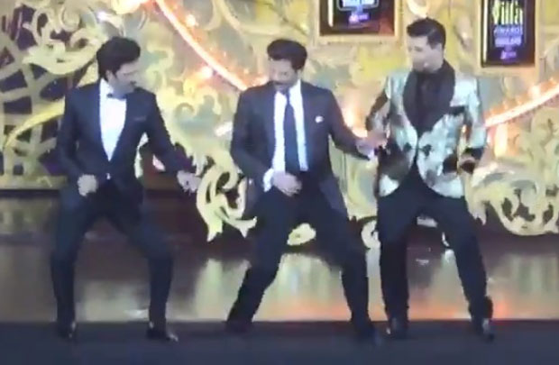 IIFA 2018: Anil Kapoor dancing on Sonam Kapoor's Tareefan with Karan Johar and Riteish Deshmukh is definitely not to be missed
