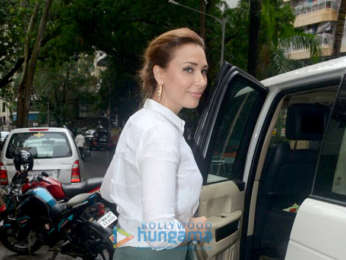 Iulia Vantur snapped at Manish Malhotra's store in Khar