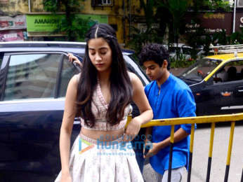Janhvi Kapoor, Ishaan Khatter and others snapped in Mumbai