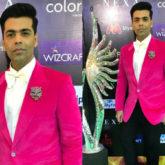 Karan Johar in pink for IIFA Rocks 2018 (Featured)