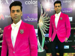 Karan Johar in pink for IIFA Rocks 2018 (Featured)