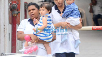 Karan Johar's kids Yash and Roohi snapped after play school in Bandra