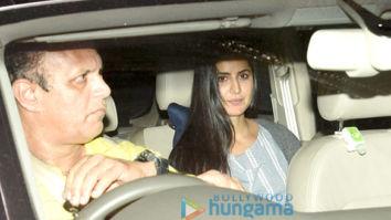 Katrina Kaif, Aayush Sharma and Arpita Khan snapped at Manish Malhotra's home