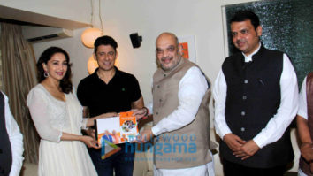 Madhuri Dixit snapped meeting Amit Shah