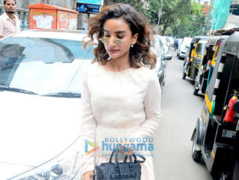 Patralekha and Hansika Motwani spotted outside a cafe in Bandra