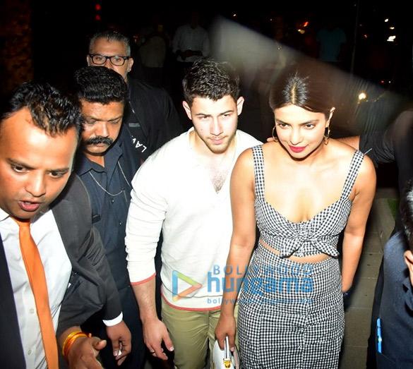 Priyanka Chopra and Nick Jonas spotted at Yauatcha in BKC