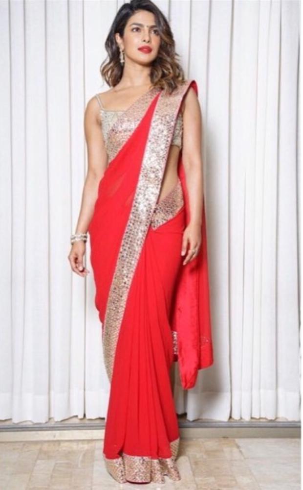 Priyanka Chopra in Abu Jani Sandeep Khosla Couture