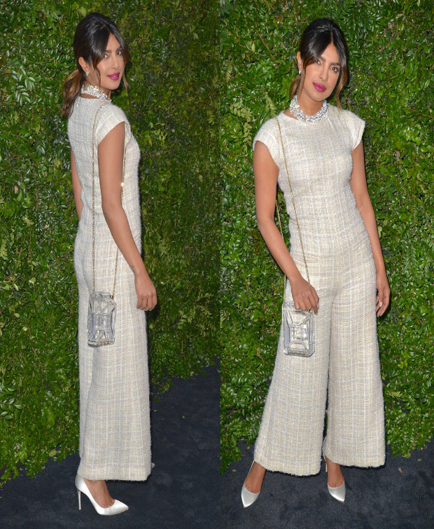 Priyanka Chopra in Chanel jumpsuit for the benefit dinner