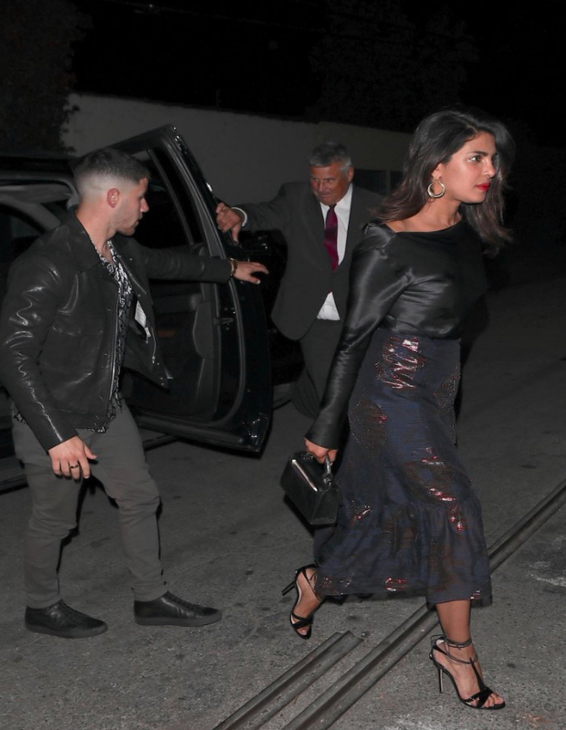 Priyanka Chopra on a date night with Nick Jonas