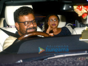 Rani Mukerji and Aditya Chopra spotted at Karan Johar's house