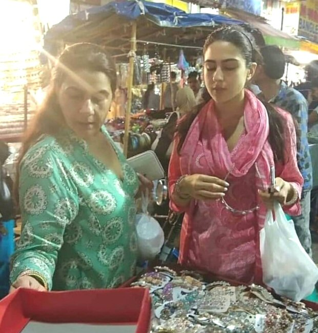 SIMMBA: Sara Ali Khan takes a street SHOPPING break with mother Amrita Singh whilst shooting in Hyderabad