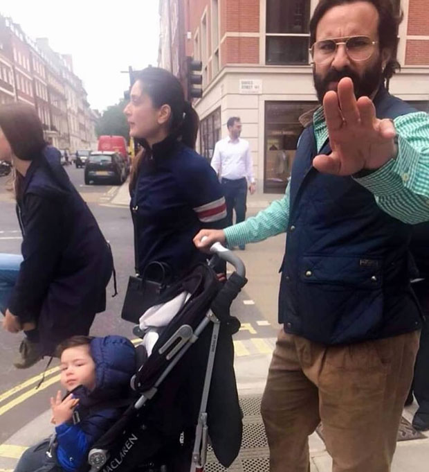 Saif Ali Khan gets really ANGRY with press hounding them in London, Taimur Ali Khan though enjoys the attention (see pic and watch video)