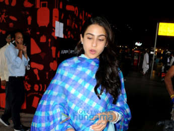 Sara Ali Khan snapped at the airport while returning from Hyderabad schedule of 'Simmba'