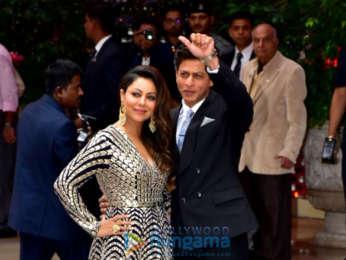 Shah Rukh Khan, Gauri Khan, Ranbir Kapoor and other celebs snapped at Akash Ambani - Shloka Mehta engagement ceremony