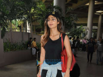 Shilpa Shetty snapped at the airport