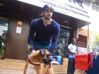 Sidharth Malhotra spotted at a dog' hospital in Bandra
