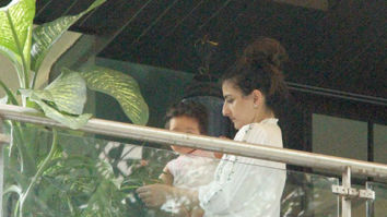 Soha Ali Khan and Inaaya snapped at Kareena Kapoor-Saif Ali Khan's Bandra home