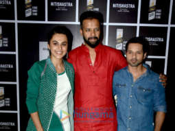 Taapsee Pannu and Vicky Arora grace the screening of Kapil Verma's short film 'Nitishastra'