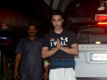 Aayush Sharma and Warina Hussain spotted at the gym in Bandra