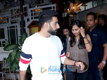 Abhishek Bachchan spotted at Fable restaurant in Juhu