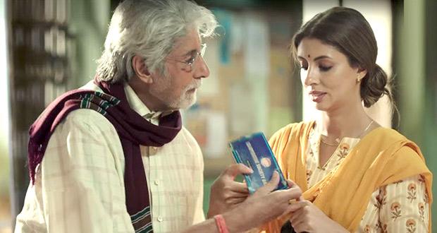 Amitabh Bachchan and Shweta Bachchan Nanda's reel life father-daughter act is winning hearts (watch video)
