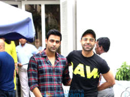 Aparshakti Khurrana and Anirudh Tanwar spotted at Taj Mahal Tea House