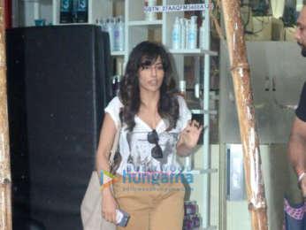 Chitrangda Singh snapped at a salon at Pali Hill
