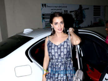 Dia Mirza and husband Sahil Sangha spotted at PVR Juhu for Soorma premiere