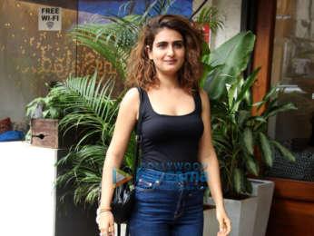 Tusshar Kapoor, Aparshakti Khuranna and Fatima Sana Sheikh snapped at Indigo Deli in Andheri