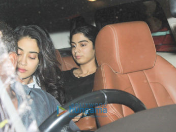 Janhvi Kapoor and Arjun Kapoor spotted at Sonam Kapoor's residence in Juhu