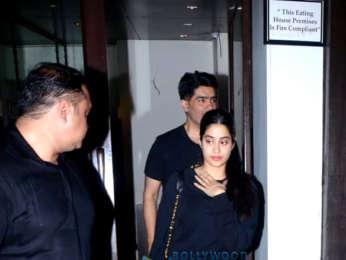 Janhvi Kapoor and Manish Malhotra spotted at Bastian