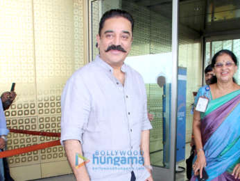 Kamal Haasan, Janhvi Kapoor and Ishaan Khatter snapped at the airport