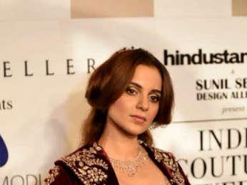 Kangana Ranaut walk the ramp for Anju Modi at India Couture Week 2018