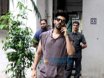 Kartik Aaryan snapped at the Maddock Films office