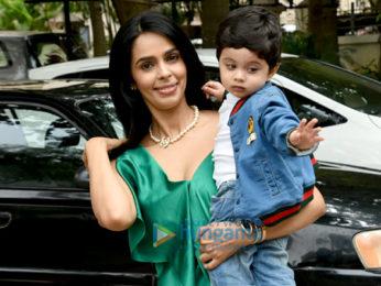 Mallika Sherawat snapped with her nephew Rasher Lambia in Yari Road