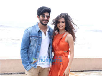 Mithila Palkar and Dulquer Salmaan snapped at Karwaan promotions