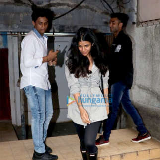 Nimrat Kaur spotted at Chandan cinema in Juhu
