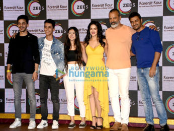 Sunny Leone and husband Daniel Weber snapped at the launch of Karenjit Kaur